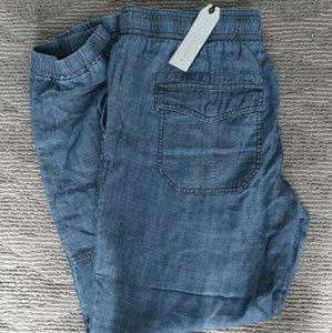 NWT Sanctuary Denim Linen Jogger Jeans Pants $108